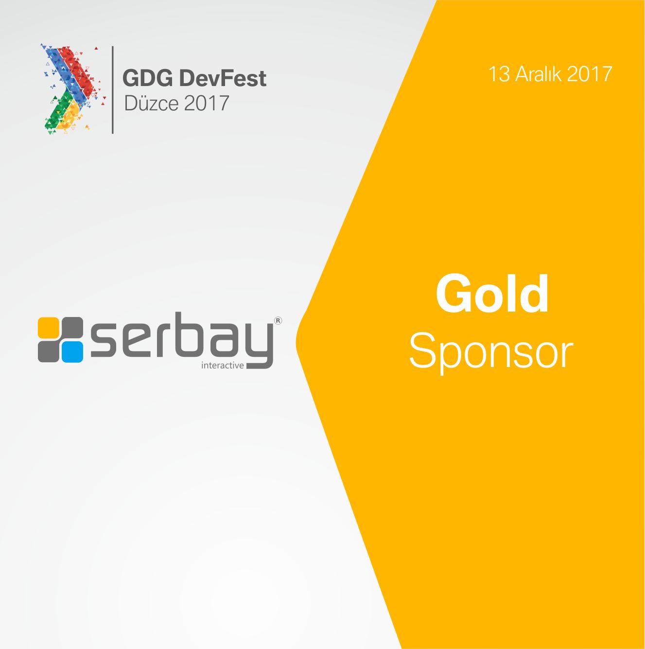GDG DevFest Düzce 2017 Gold Sponsor: Serbay Interactive